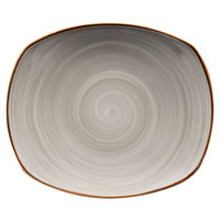 Corona by GET Enterprises PP1607722612 Artisan 10 inch Grey Oval Porcelain Coupe Plate - 12/Case