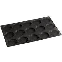 Sasa Demarle Flexipan Air® SF-0111 Silicone 15 Compartment Bread Mold - 4 1/8 inch x 4 1/8 inch x 1/2 inch Cavities
