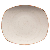 Corona by GET Enterprises PP1605722024 Artisan 7 1/2 inch Beige Oval Porcelain Coupe Plate - 24/Case