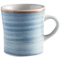 Corona by GET Enterprises PP1604726424 Artisan 11 oz. Blue Porcelain Mug - 24/Case