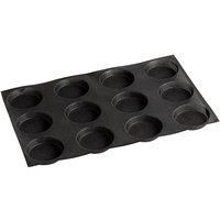 Sasa Demarle Flexipan Air® SF-1217 Silicone 12 Compartment Bread Mold - 4 1/8 inch x 4 1/8 inch x 3/4 inch Cavities
