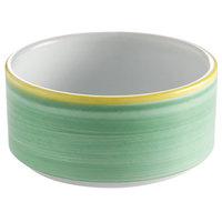 Corona by GET Enterprises PA1603905124 Calypso 11 oz. Green Porcelain Stackable Soup Cup   - 24/Case