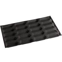 Sasa Demarle Flexipan Air® SF-4075 Silicone 20 Compartment Oblong Bread Mold - 5 3/4 inch x 2 inch x 1 inch Cavities