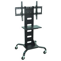 Luxor WPSMS51 Flat Panel TV Cart with Shelf for 37 inch to 60 inch Screens