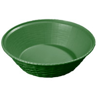 Carlisle 652409 WeaveWear Green Round Plastic Serving Basket 9 inch - 12/Case
