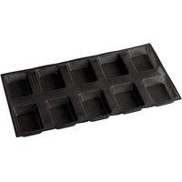 Sasa Demarle Flexipan Air® SF-1188 Silicone 10 Compartment Rectangular Bread Mold - 5 inch x 3 1/2 inch x 1 1/8 inch Cavities