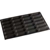 Sasa Demarle Flexipan Air® SF-2005 Silicone 24 Compartment Oblong Bread Mold - 5 1/8 inch x 1 3/8 inch x 3/4 inch Cavities