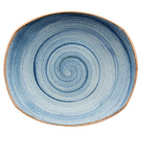 Corona by GET Enterprises PP1604722612 Artisan 10 inch Blue Oval Porcelain Coupe Plate   - 12/Case