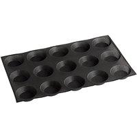 Sasa Demarle Flexipan® Air SF-01674 Silicone 15 Compartment Tartlet Mold - 3 3/4 inch x 3 3/4 inch x 1 inch Cavities