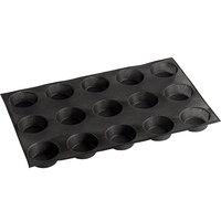 Sasa Demarle Flexipan Air® SF-1034 Silicone 15 Compartment Bread Mold - 3 5/16 inch x 3 5/16 inch x 1 3/8 inch Cavities
