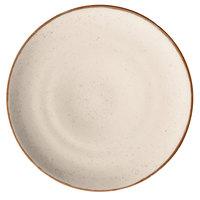 Corona by GET Enterprises PA1605712812 Artisan 11 inch Beige Porcelain Coupe Plate - 12/Case