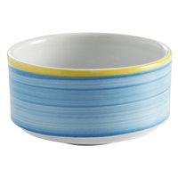 Corona by GET Enterprises PA1601905124 Calypso 11 oz. Blue Porcelain Stackable Soup Cup - 24/Case