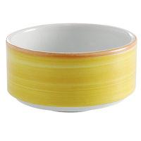 Corona by GET Enterprises PA1600905124 Calypso 11 oz. Yellow Porcelain Stackable Soup Cup - 24/Case