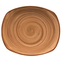 Corona by GET Enterprises PP1606722612 Artisan 10 inch Brown Oval Porcelain Coupe Plate - 12/Case