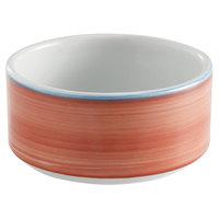 Corona by GET Enterprises PA1602905124 Calypso 11 oz. Coral Porcelain Stackable Soup Cup - 24/Case