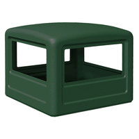 Commercial Zone 732253 PolyTec 42 Gallon Forest Green Dome Trash Can Lid