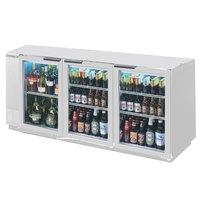 Beverage-Air BB72HC-1-G-S-WINE 72 inch Stainless Steel Glass Door Back Bar Wine Refrigerator