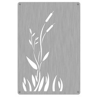 Commercial Zone 725529 Stainless Steel Replacement Panels with Cattail Design for 42 Gallon Waste and Recycling Containers - 4/Pack