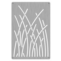 Commercial Zone 725729 Stainless Steel Replacement Panels with Reed Design for 42 Gallon Waste and Recycling Containers - 4/Pack