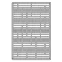 Commercial Zone 725629 Stainless Steel Replacement Panels with Horizontal Line Design for 42 Gallon Waste and Recycling Containers - 4/Pack