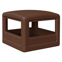 Commercial Zone 732237 PolyTec 42 Gallon Brown Dome Trash Can Lid