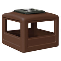 Commercial Zone 732337 PolyTec 42 Gallon Brown Dome Trash Can Lid with Ashtray