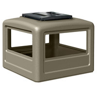 Commercial Zone 732302 PolyTec 42 Gallon Beige Dome Trash Can Lid with Ashtray