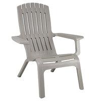Grosfillex US444766 Westport Barn Gray Resin Stackable Outdoor Adirondack Chair