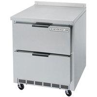 Beverage-Air WTFD32AHC-2 32 inch Two Drawer Worktop Freezer with 4 inch Backsplash