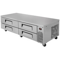 Turbo Air TCBE-82SDR 84 inch Four Drawer Refrigerated Chef Base - 19 cu. ft.
