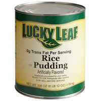 Lucky Leaf #10 Can Trans Fat Free Premium Rice Pudding