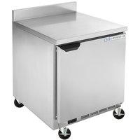 Beverage-Air WTF27HC-FIP 27 inch Worktop Freezer with 4 inch Foamed-in-Place Backsplash