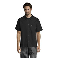 Uncommon Threads 0920 Black Customizable Classic Short Sleeve Cook Shirt - 5XL