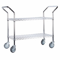 Regency 24 inch x 36 inch Two Shelf Chrome Heavy Duty Utility Cart
