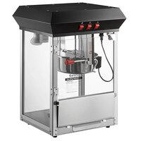 Galaxy 8 oz. Black Commercial Popcorn Machine / Popper - 120V