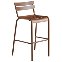 Lancaster Table & Seating Brown Powder Coated Aluminum Outdoor Barstool