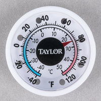 "Taylor 5380N 1 3/4"" Mini Window Stick-On Indoor / Outdoor Thermometer"