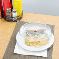 Carlisle 198907 10 3/16 inch to 10 1/4 inch Clear Polycarbonate Plate Cover - 12/Case