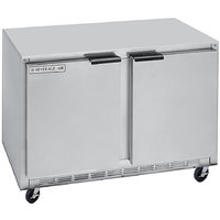 Beverage-Air UCRF50AHC-1-SA-B 50 inch Dual Temp Undercounter Refrigerator / Freezer