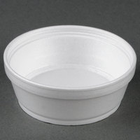 Dart Solo 8SJ32 8 oz. Super Squat White Foam Food Bowl - 25/Pack