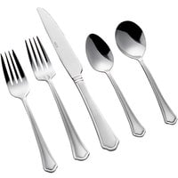 Acopa Sienna 18/0 Stainless Steel Heavy Weight Flatware Set with Service for 12 - 60/Pack