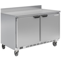 Beverage-Air WTRF50AHC-1-SA-A-FIP 50 inch Dual Temp Worktop Freezer / Refrigerator with 4 inch Foamed-in-Place Backsplash
