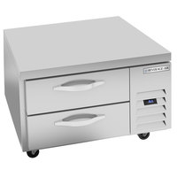 Beverage-Air WTRCS36HC-FLT 36 inch 2 Drawer Refrigerated Chef Base with Flat Top