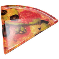 GET PZ-85-PZ Creative Table 9 inch x 8 3/4 inch Pizza Decal Melamine Triangle Pizza Plate   - 24/Case