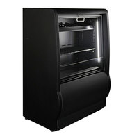 Excellence AC2 26 inch Black Refrigerated Air Curtain Merchandiser