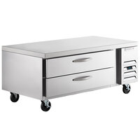 Beverage-Air WTRCS60HC-FLT 60 inch 2 Drawer Refrigerated Chef Base with Flat Top