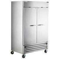 Beverage-Air HBRF49HC-1-A Horizon Series 52 inch Stainless Steel Solid Door Dual Temperature Reach-In Refrigerator / Freezer