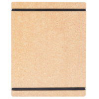 Cal-Mil 2034-811-14 8 1/2 inch x 11 inch Natural Menu Board with Flex Bands