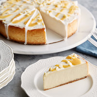 Pellman 60 oz. 9 inch Pre-Cut Lemon Cheesecake