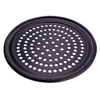 American Metalcraft SPHCTP7 7 inch Super Perforated Hard Coat Anodized Aluminum Wide Rim Pizza Pan